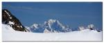 The Mont Blanc - photo taken Le Pic Blanc (3300m) 93 km away!